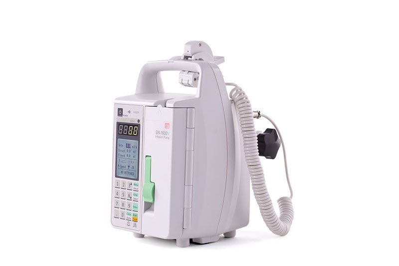 Vertical infusion pump